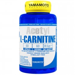Acetyl L-Carnitina Yamamoto Nutrition 1000mg 60 caps Acetil Carnitina Dimagrante