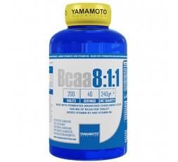Bcaa 8:1:1 Yamamoto Nutrition Aminoacidi Ramificati con Vitamine B1 e B6 200 cpr