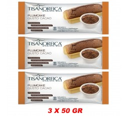 Plumcake gusto cacao 3 X 50 gr Tisanoreica Gianluca Mech