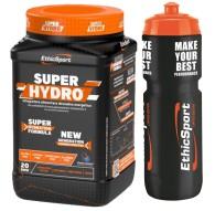 Ethicsport Superhydro 500 gr Integratore idrosalino di carboidrati e vitamine B e C + Borraccia