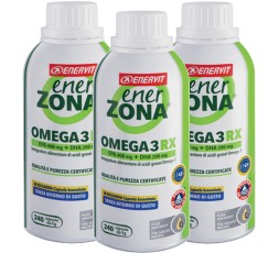 Enerzona Enervit Omega 3 Rx 3 Flaconi X 240 cps Senza Ritorno di Gusto + Omaggi