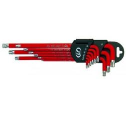 Serie 9 chiavi torx colorate con magnete FERMEC96950